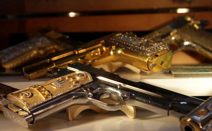 Драгоценное оружие мексиканских наркобаронов (15 фото)