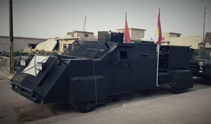 Самодельная бронетехника курдского ополчения (5 фото)