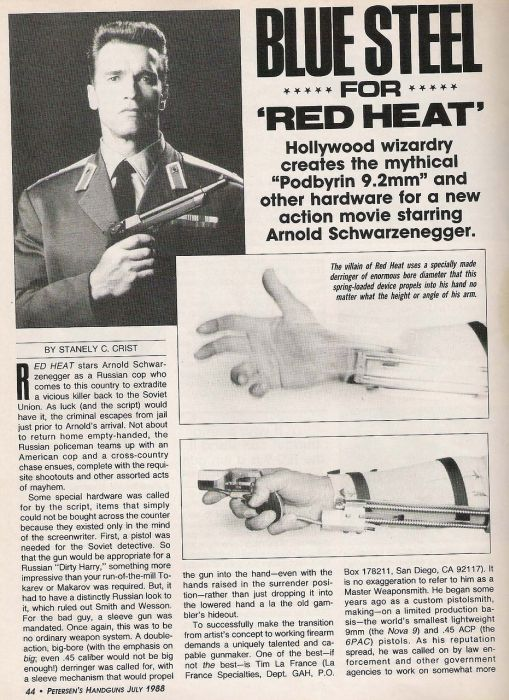 История создания уникального пистолета из фильма «Красная Жара» (28 фото + видео)