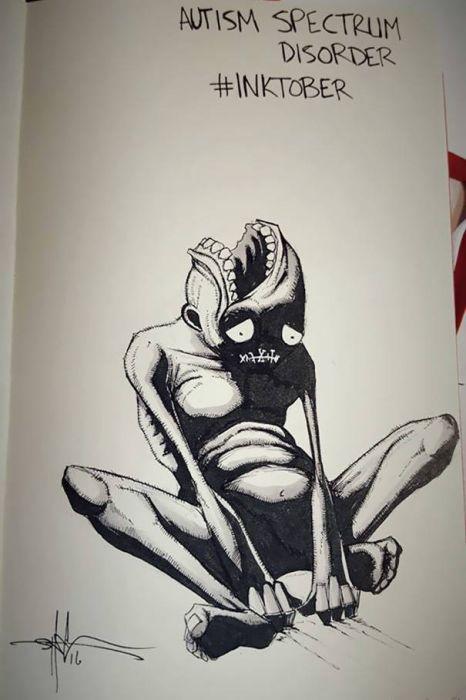 Психические расстройства в рисунках Шона Косса (18 рисунков)