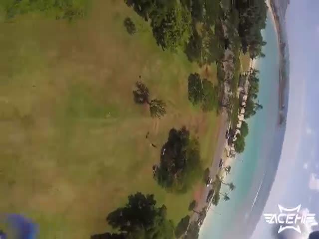 Гонки на дронах на Гавайях