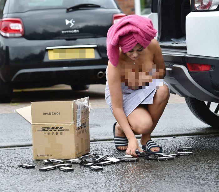 Британская звезда реалити-шоу Хлое Ферри стала легкой мишенью для папарацци (7 фото)