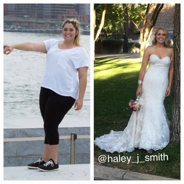 Девушка похудела к свадьбе (15 фото)