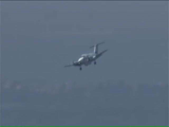 Пилот удачно посадил самолет, у которого не выпустилось переднее шасси