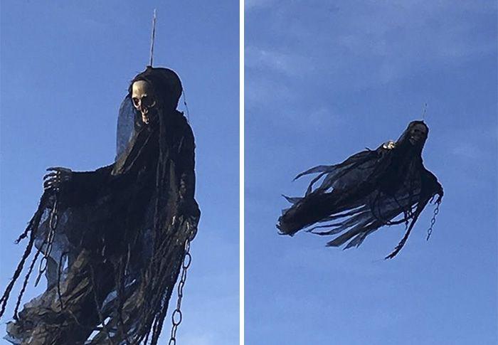 Жуткая подвижная декорация для Хэллоуина (3 фото)
