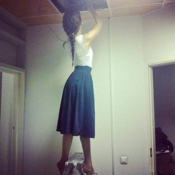 Девушки и женщины, прекрасно справляющиеся с мужской работой (31 фото)