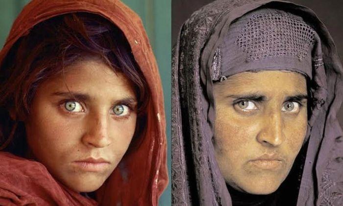 Женщина с всемирно известного фото арестована за незаконное проживание в Пакистане (2 фото)