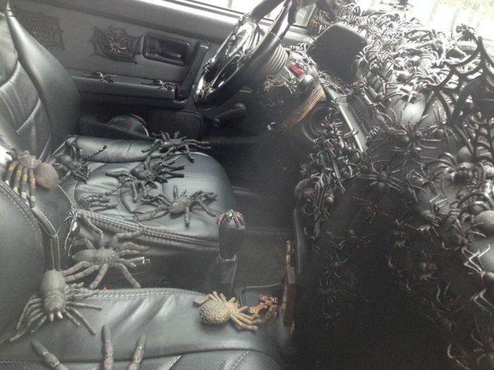 Автомобиль любителя пауков (3 фото)