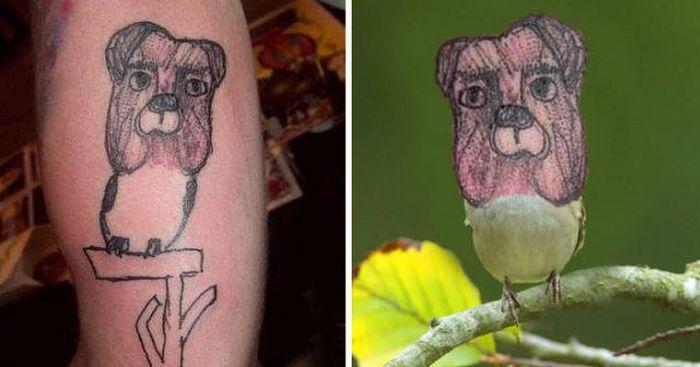 Странные татуировки (36 фото)