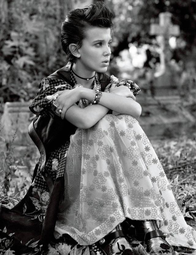 12-летняя актриса Милли Браун из «Очень странных дел» примеряла новый образ (10 фото)