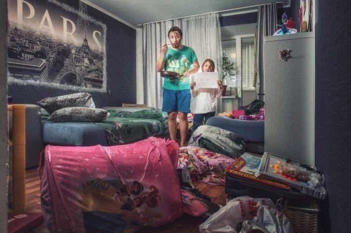 «Мама, у нас всё хорошо» - забавный фотопроект отца с дочерью (9 фото)