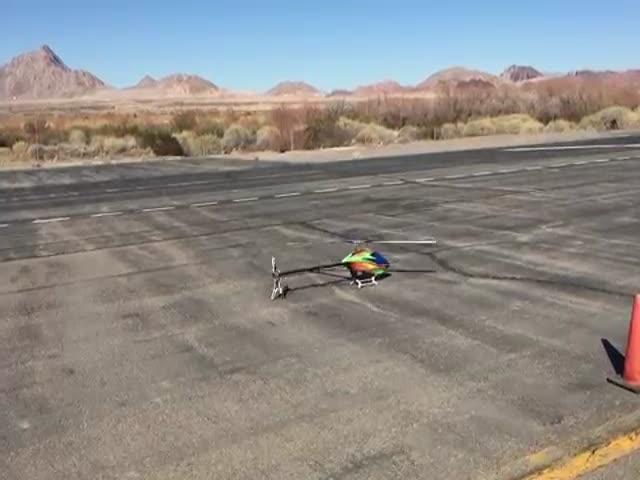 Нереальное мастерство пилотирования модели вертолета