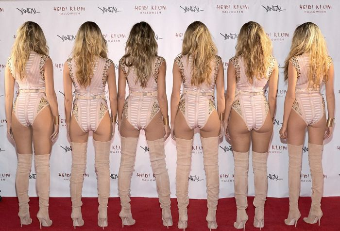 Хайди Клум «клонировала» саму себя на Хэллоуин (7 фото)