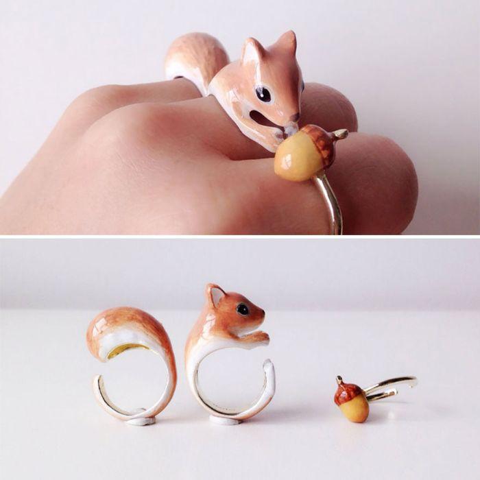 Кольца в виде фигурок животных (18 фото)