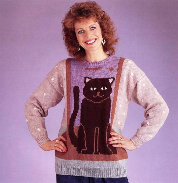 Модные свитера 80-х (43 фото)