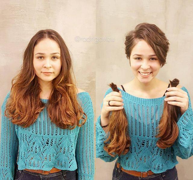 До и после новой стрижки (18 фото)