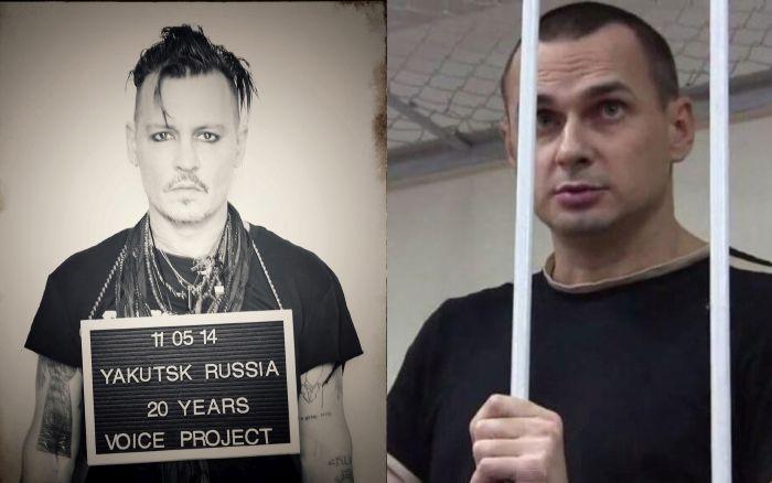 Джонни Депп поддержал осужденного в России украинского режиссера  Олега Сенцова (6 фото)