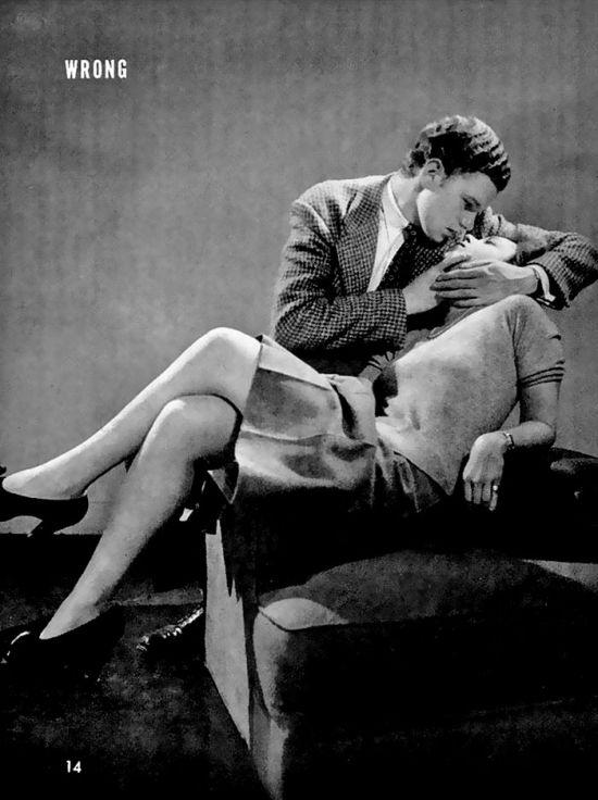 Пособие по правильным поцелуям образца 1942 года (4 фото)