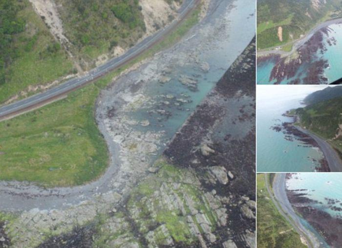 Последствия землетрясения и цунами в Новой Зеландии (4 фото + видео)