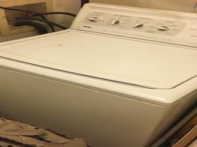 Дуэт человека и стиральной машины