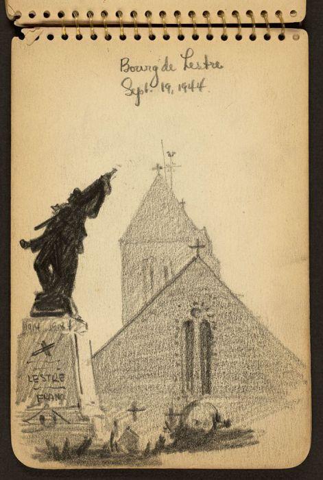 Вторая мировая война в рисунках студента-архитектора (29 рисунков)
