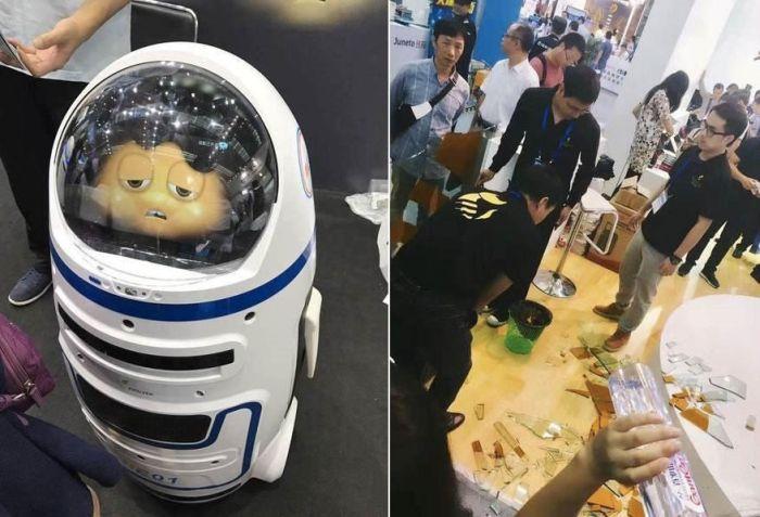 В Китае детский робот травмировал человека (2 фото)