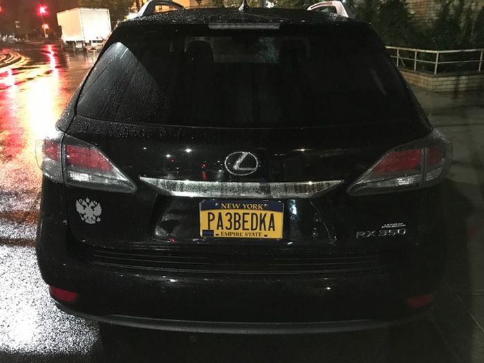 «Русские» автомобильные номера в США (25 фото)