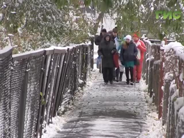 Торжественное открытие тротуара в Самаре