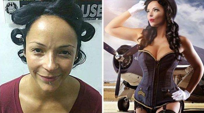 Обычные женщины превращаются в прекрасных моделей (11 фото)