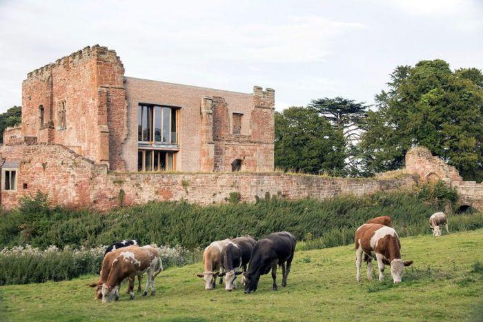 Современный дом в развалинах старого замка в Великобритании (16 фото)