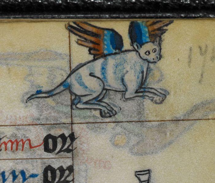 Кошки в работах художников средневековья (22 фото)