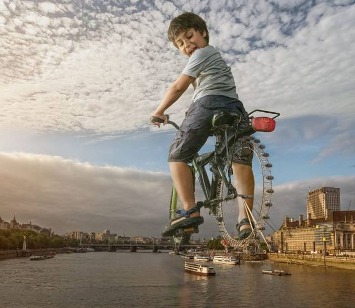 Отец с помощью фотошопа создает удивительные фото со своим сыном (35 фото)