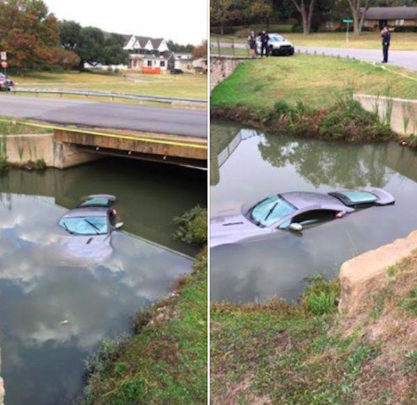 Подростки разбили и утопили спорткар Aston Martin (4 фото)