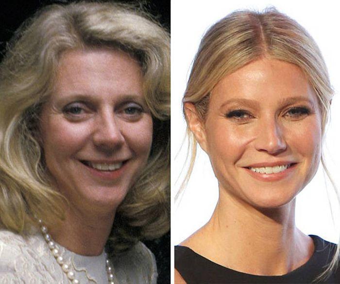 Как выглядели матери знаменитых женщин в том же возрасте (14 фото)