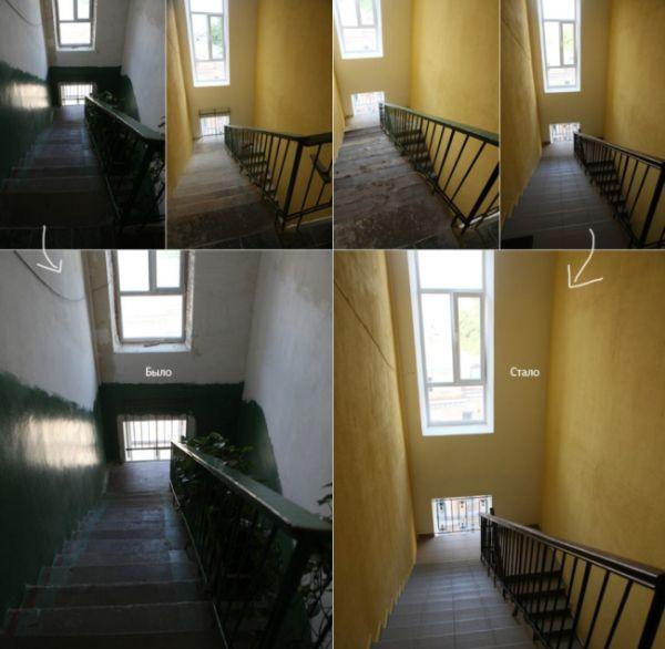 Урна и бескультурье жильцов дома (6 фото)