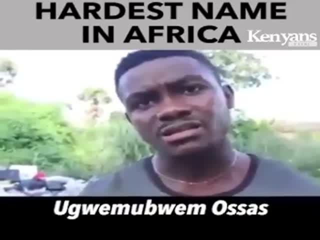 У этого парня самое сложное имя в Африке