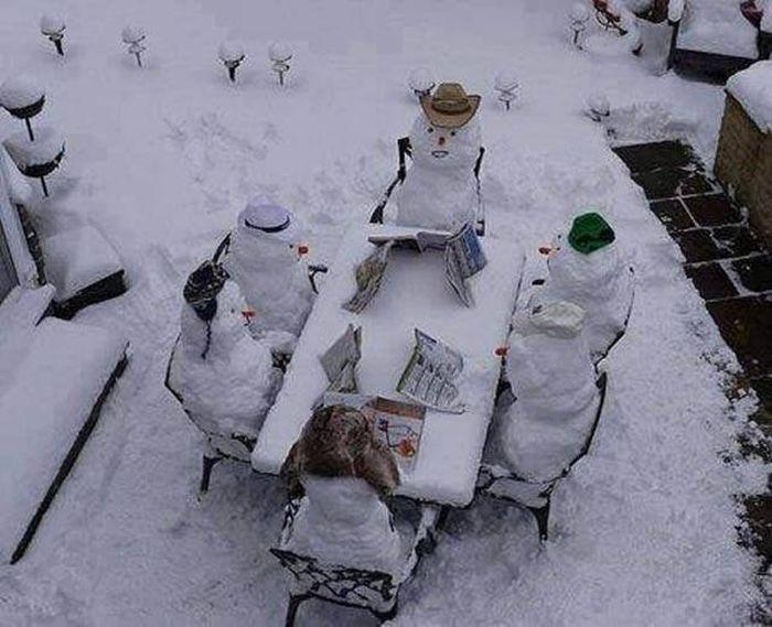 Красивые и забавные зимние фото (42 фото)