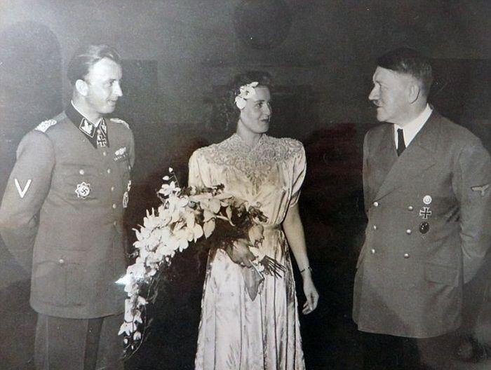 Неизвестные ранее фото со свадьбы сестры возлюбленной Гитлера Евы Браун (11 фото)