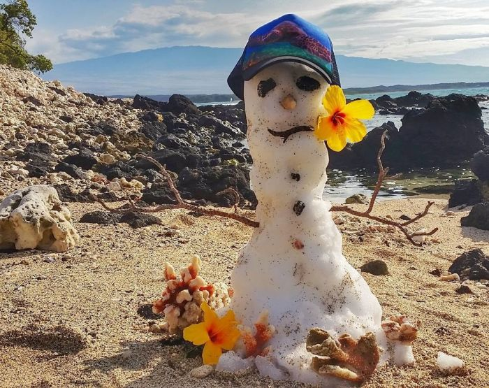 Снегопад на Гавайях (10 фото + видео)