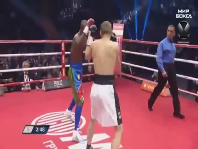 Джулиус Индонг отправил в нокаут Эдуарда Трояновского
