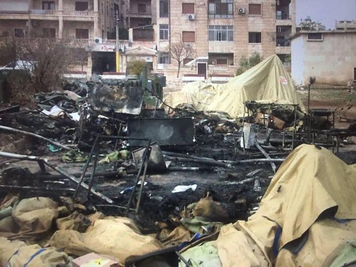 В Алеппо обстреляли российский мобильный госпиталь (4 фото + видео)
