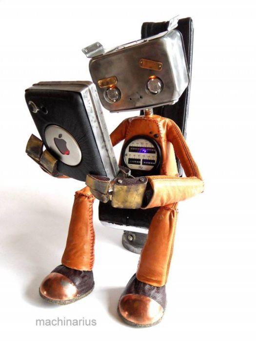 Великолепные стимпанк-роботы от Машинариуса (44 фото)