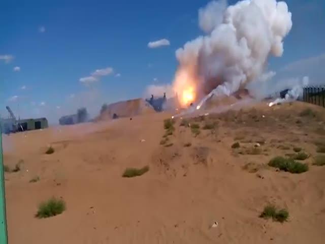 Неудачный запуск ракеты С-300
