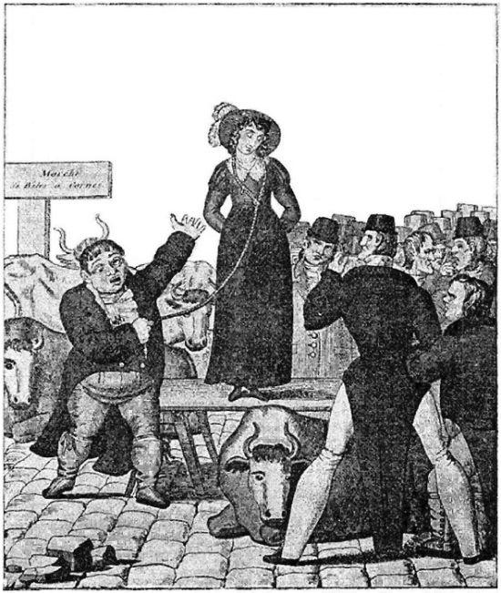 Продажа надоевших жен в Англии XVIII-XIX века (4 картинки + текст)