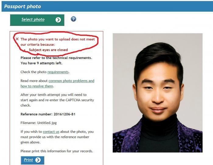 В Новой Зеландии паспортный робот посчитал, что у азиата на фото закрыты глаза (2 фото)