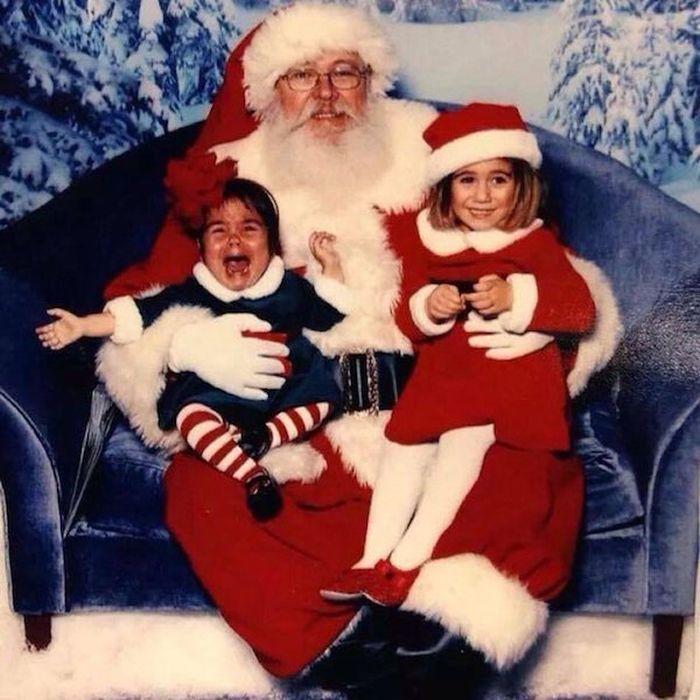 Дети, которые боятся Санта-Клауса (27 фото)