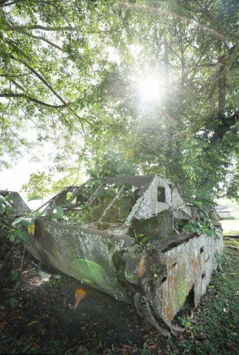 Отголоски Второй мировой на островах Тихого океана (34 фото)