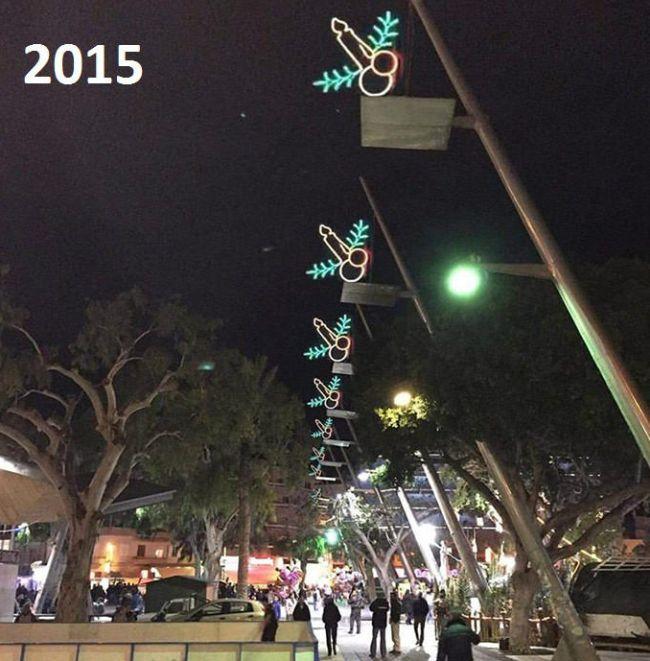 Странные рождественские декорации в Греции (2 фото)