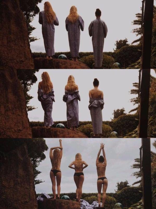 Частное фото Мэйси Уильямс, которая играет Арию Старк в сериале «Игра Престолов» (3 фото)
