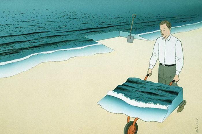Сюрреалистичные рисунки Ги Биллю (45 рисунков)